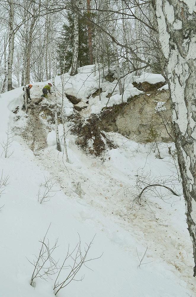 Один из входов в Мечкинскую пещеру. Это вход в 2015 году был закрыт обвалом